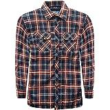 Apparel Mens Flannel Padded Work Shirt Yarn Dyed Quilted Lumberjack Jacket Regular & Big