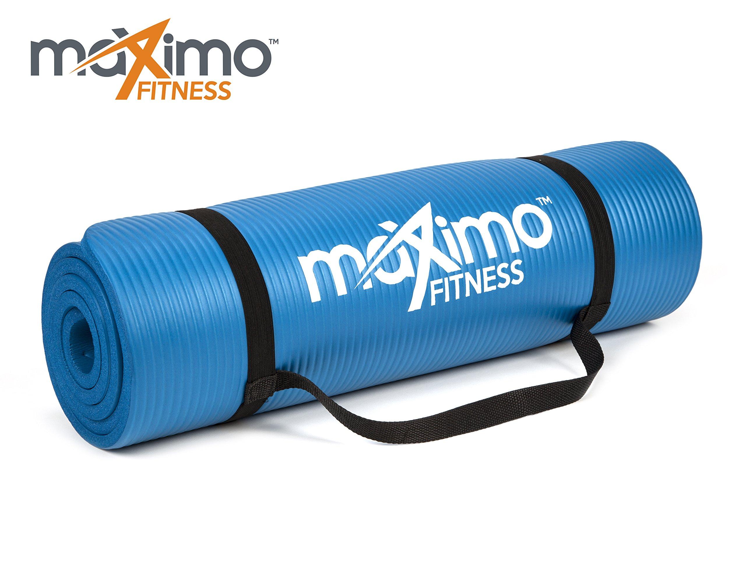 Maximo Fitness Colchoneta de Ejercicios – 183cm de Longitud x 60cm de Ancho x 1,2cm de Grosor.
