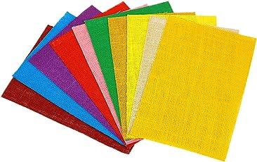 Designers den Assorted Colours a4 Jute Sheets-Set of 10