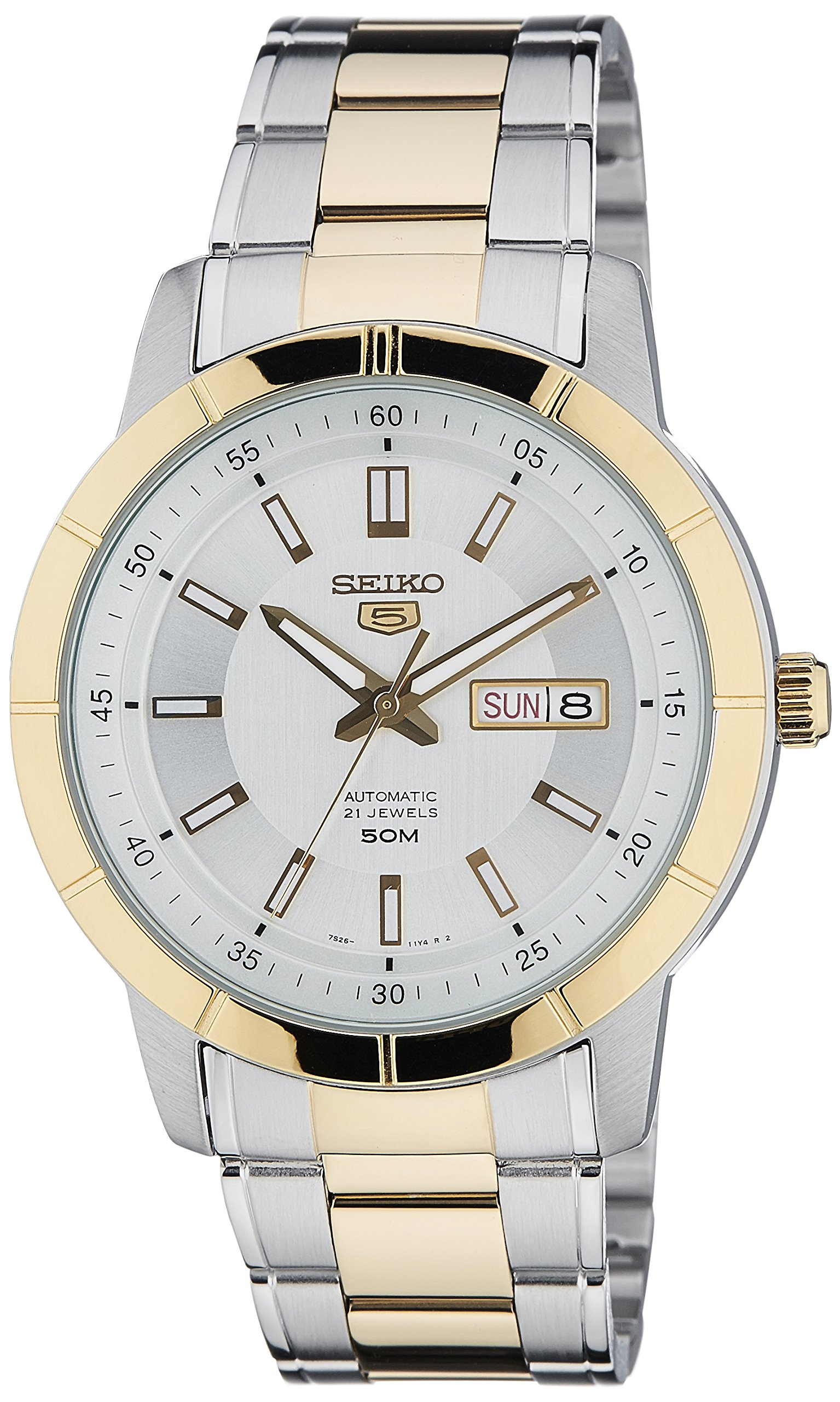 Seiko 5 Analog White Dial Men's Watch-SNKN58K1