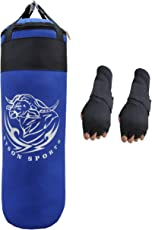 Byson Strong and Rough (36 inch) Punching Bag with Hand wrap Gloves (Heavy Bag)
