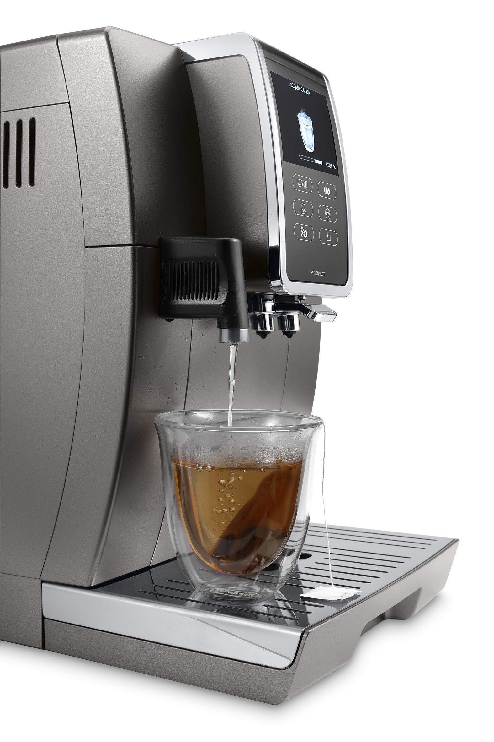 DeLonghi-Dinamica-Plus-ECAM-37095T-Kaffeevollautomat-35-Touchscreen-Integriertes-Milchsystem-Kaffeekannen-Funktion-3-Benutzerprofile-App-Steuerung