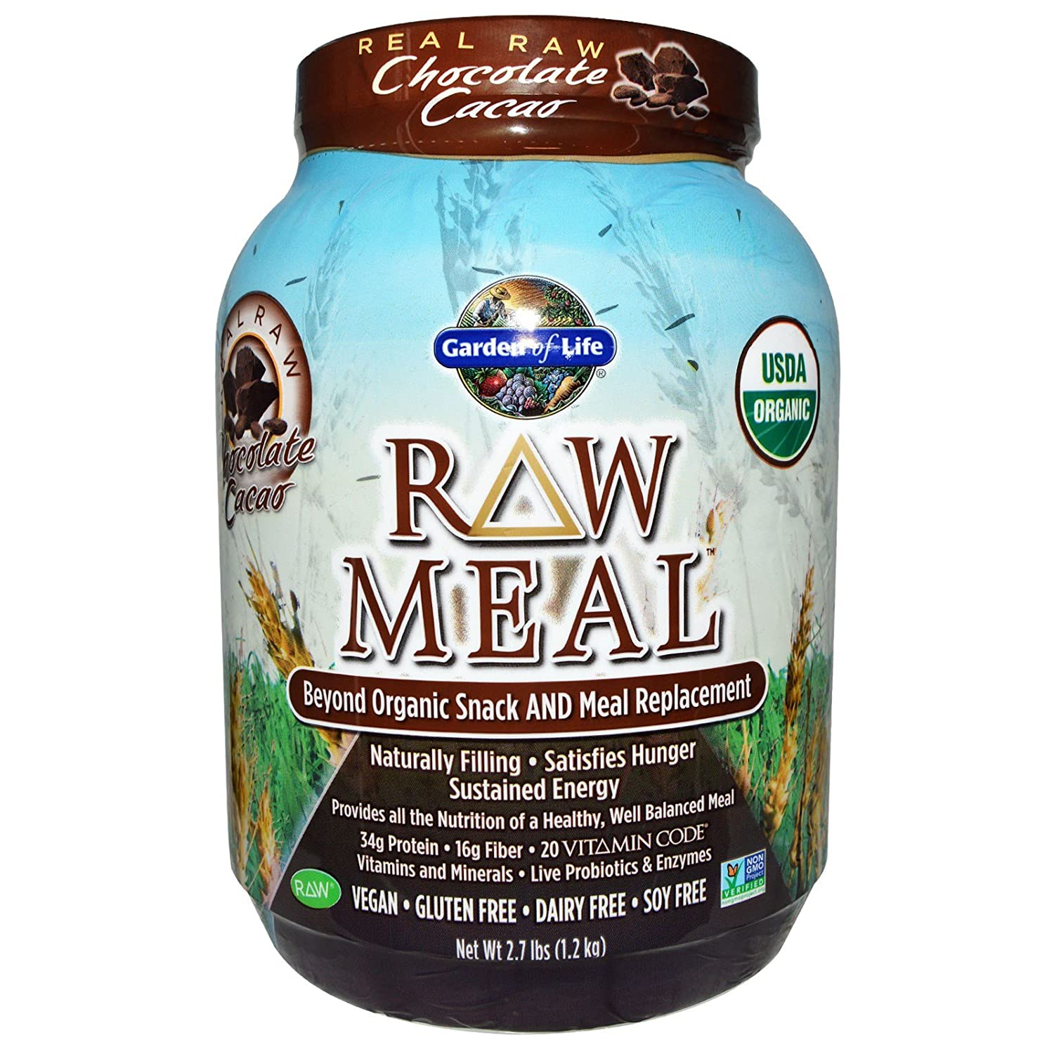 garden of life raw meal organic shake meal replacement