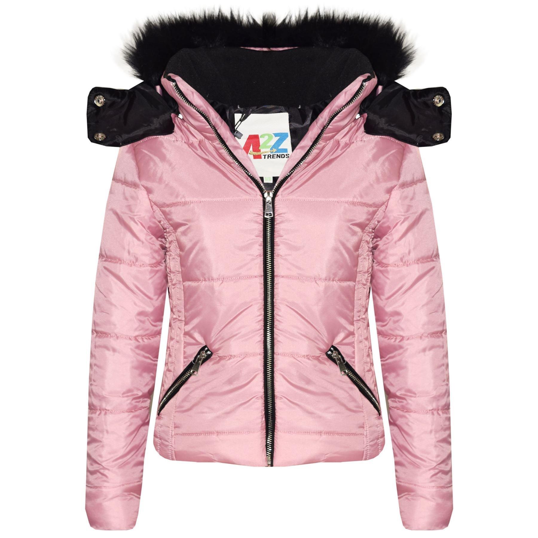 836a9fe55 A2Z 4 Kids® Kids Girls Jacket Designer's Baby Pink Stylish Cropped ...