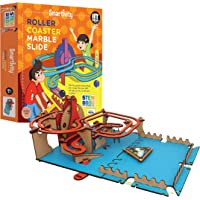 Smartivity Roller Coaster Marble Slide STEM STEAM Educational DIY Building Construction Activity Toy Game Kit, Easy…