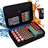 Battery Organizer Storage Box Case Fireproof Hard Carrying Bag with Battery Tester holds 216 Different Size Batteries…