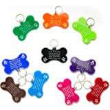 Cat Tag Dog Tags Pet ID Personalised Engraved Acrylic Plastic - Bone Shape