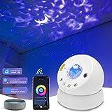 Led-sterrenhemel projector, nachtlampje voor kinderen, slaapkamer, maan, sterrenhemel, watergolven, projectorlamp met timer e