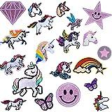 Parches De Unicornio Para Ropa,Patch Stickers Ropa,Para Manualidades,Parches Para Planchar Infantil, Patch Sticke,Camisas, Va