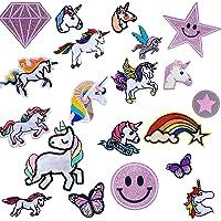 Toppe Termoadesive Colori Misti,Misti Toppe,Toppa Unicorno, Patch Toppe Termoadesive Bambini Toppa Ricamata Per Riparare…
