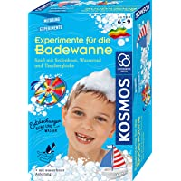 KOSMOS 657833 Experimente für die Badewanne, Experimentier-Spaß mit Seifenboot, Wasserrad und Taucherglocke, Forscher…