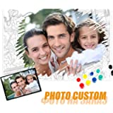 GJJHRA Personalised Custom Paint by Numbers for Adults,Customize Photo Oil Painting DIY Digital Children,Beginners…