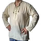 NATURAL FLOW Fair Trade Hippy Boho Cotton Festival Gothic LARP Pirate Day Kurta Shirt
