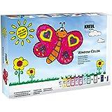 Kreul 42752 - Window Color Fenstermalfarben Set, mit 8 Farben in 80 ml Malflaschen, schwarze Konturenfarbe…
