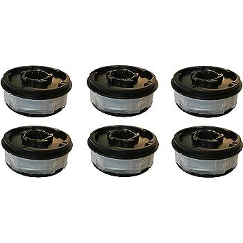 double line coil suitable for Aldi Gardenline Electric GLR 450 451 452 453 454 455 456 457 458 459 450//1 450//2 450//3 450//4 450//5. 6-piece grass trimmer replacement spool
