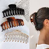 Hair Claw Clips for Thick Hair - 3pcs 4.3'' Plastic Nonslip Jumbo Hair Clips Strong Hold Hair Jaw Clips Big Hair Clips…
