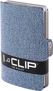 I-CLIP ® Portafoglio Jeans Blu (Disponibile In 2 Versioni)