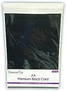 Dovecraft Essentials A4 Premium Black Cards