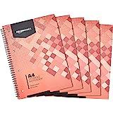 Amazon Basics - Quaderno per studenti, 160 pagine, formato A4, 70 g/m², (confezione da 5)
