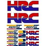 Pegatina Sticker ADESIVO AUFKLEBER Decals AUTOCOLLANTS Compatible con HRC REPSOL Honda Laminado PLIEGO (27 cm x 20 cm) 13 Uni