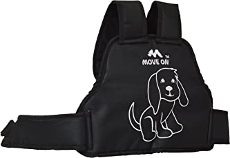 Kidsafe Children's Safety Belt with Cushion Based Belt for Motorbikes and Scooters -Puppy (Black, NEWPUPPYMO)