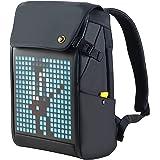 Divoom Pixoo Pixel Art Laptop Rucksack Herren , 15 Zoll Wasserdicht Schulrucksack Laptop Backpack Tasche Damen Daypack mit 16