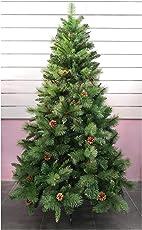 SOLAGUA NAVIDAD Christbaum Kiefer Künstliches Weihnachtsbaum Maxi Füllung Grün Kunst Christbaum mit Metallunterstützung 150cm-240cm