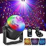 Lampe de Scène, Gvoo 3 Couleur Lumière Fête 5W Ampoules LED 7 RGB à Commande Sonore Mini Projecteur Boule Cristal Eclairage à