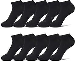 Closemate 10 Pairs Ankle Trainer Sport Socks for Men Women Cotton Low Cut Short Socks