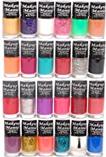 Makeup Mania Exclusive Nail Polish Set, Multicolor No.86, 87 (Pack of 24)