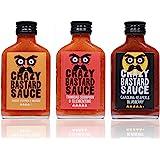 Crazy Bastard Sauce - 3er Set - Extreme Scharfe Chilisauce mit der Schärfste Chilis der Welt - Ghost Pepper, Trinidad…