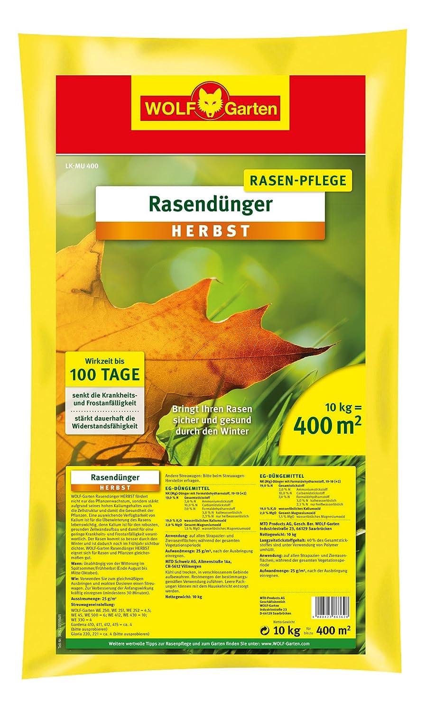 Top WOLF-Garten Rasen-Herbst-Dünger LK-MU 400; 3835040: Amazon.de: Garten GU18
