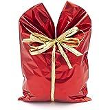 Italpak Buste Metallizzate Soft 50 pz, Sacchetti Regalo Natale, Colore Rosso, 15x25cm, X204002152500