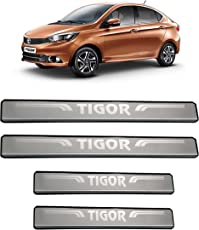 Autopop Stainless Steel Non-Led Footstep Door Sill Plate For Tata Tigor