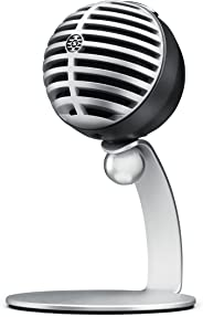 Shure MV5-LTG , micrófono de condensador digital para USB y lightning, 3 modos de DSP preprogramados, previo integrado, monit