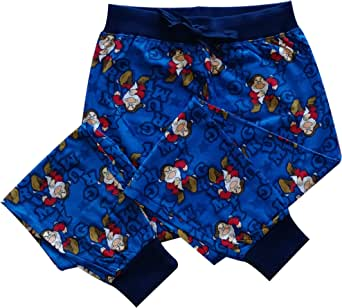 Disney Mens Grumpy Blue Lounge Pants Pyjama Bottoms Size S, M, L, XL
