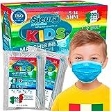 50 Mascherine Chirurgiche per Bambini Certificate CE Tipo II BFE ≥ 98% Prodotte in Italia - Mascherina Italiana monouso con e