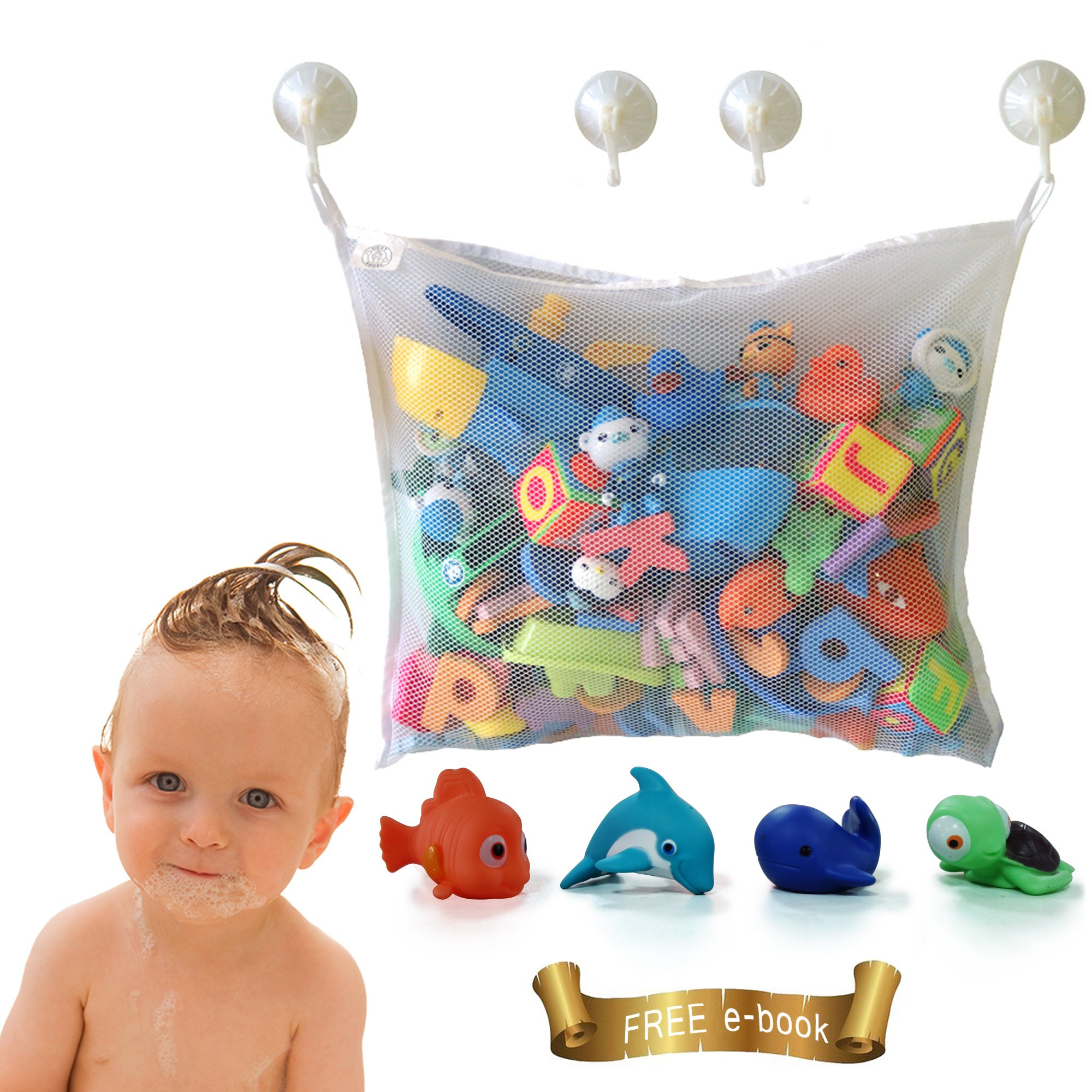 Bath Toys For Boys : Kids premium baby bath toy organiser toddlers large
