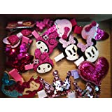 Cuty Kraft 15 Piece Hair Clip Set for Young Girls, Toddlers and Babies with Wooden Box (Pink and Purple)