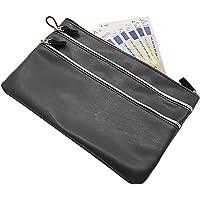 Grande portafoglio per banca 3 scomparti in grigio