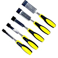 "Jon Bhandari Tools Combo of 5 Premium Wood Chisel Set 13mm (1/2""), 19mm (3/4""), 25mm (1""), 32mm (1-1/4""), 38mm (1-1/2"")"