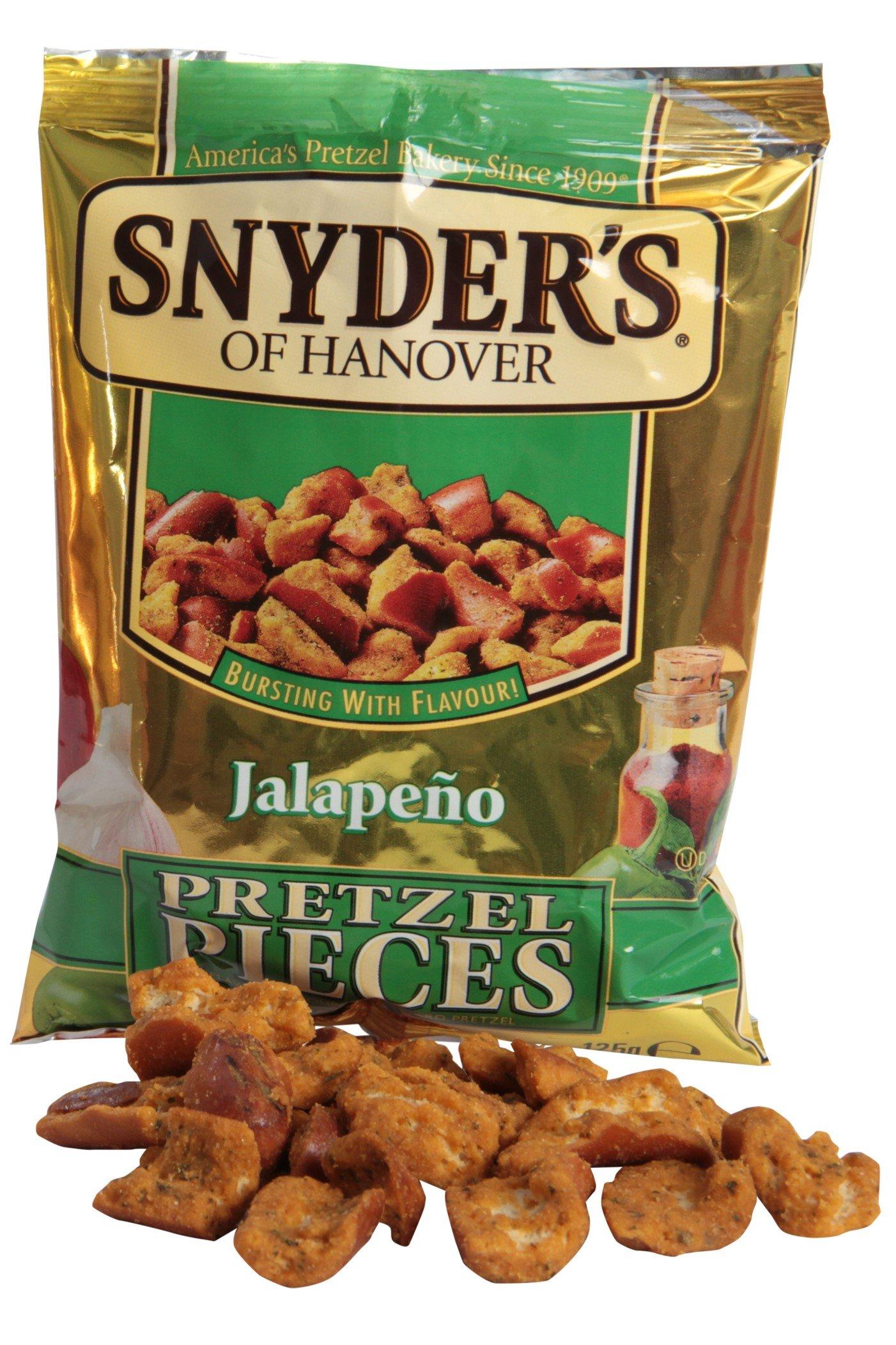 Snyder�s Pezzetti di Brezel al Jalapeno, Pane, Alimentari, Confezione da 125g