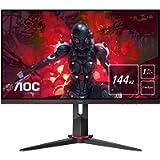 AOC Gaming 24G2 60 cm (23,8 pollici) Monitor (FHD, HDMI, DisplayPort, Free-Sync, tempo di risposta 1 ms, 144 Hz, 1920 x…
