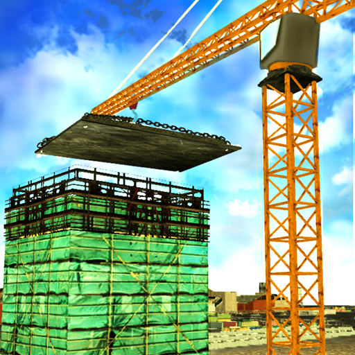 Stadt Construction Crane - Und Lkw, Graben Dump