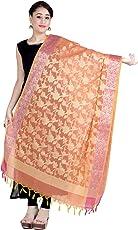 Chandrakala Women's Cotton Silk Zari Work Banarasi Dupatta(D101)