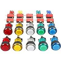 EG Starts 10x Nouveaux LED Arcade Boutons avec micro switch Mame Multicade choix de 5couleurs