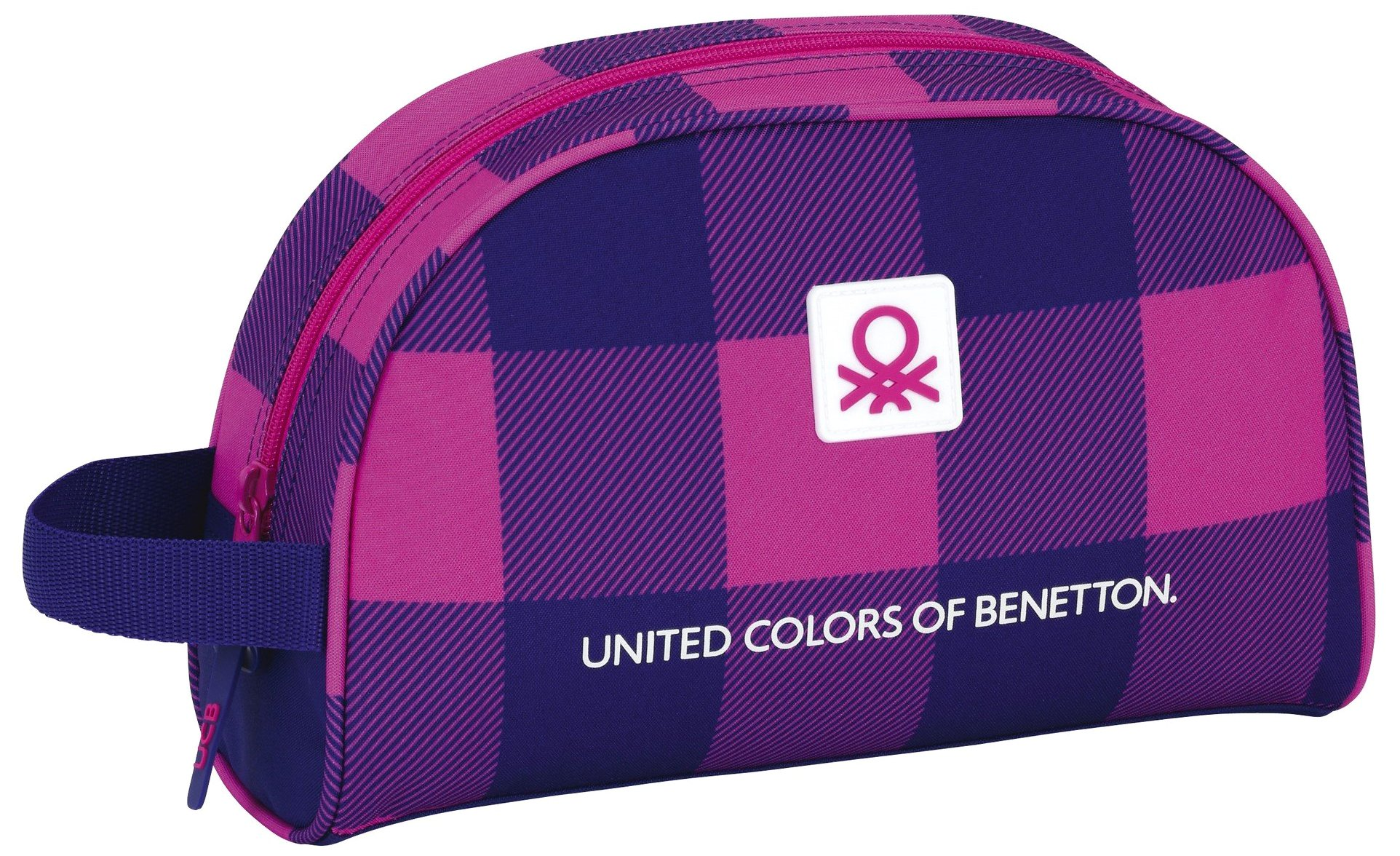 Benetton- Neceser Adaptable a Carro, Color Rosa/Azul, 28 cm (SAFTA 811752332)