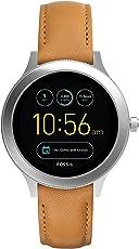 Fossil Damen Smartwatch Q Venture 3. Generation - Leder - Braun – Moderne Smartwatch mit Lederarmband – Für Android & iOS