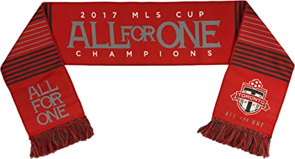 MLS Toronto FC Cup Champions Woven Scarfs, One Size, Red