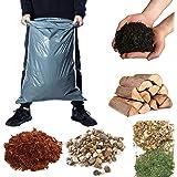 Calzette Grote Heavy Duty Plastic Puin Zakken voor de Bouw van Tuin Afvalzak voor Bouwers Tuinieren 20kg Afval (15)